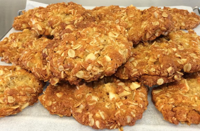 Anzac Biscuits with Macadamias