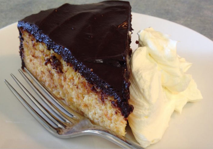 Flourless Macadamia & Orange Cake with Chocolate Ganache Icing